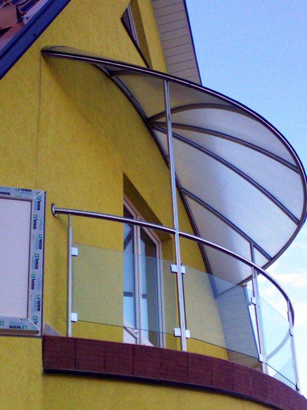 Купольный козырек над балконом фото