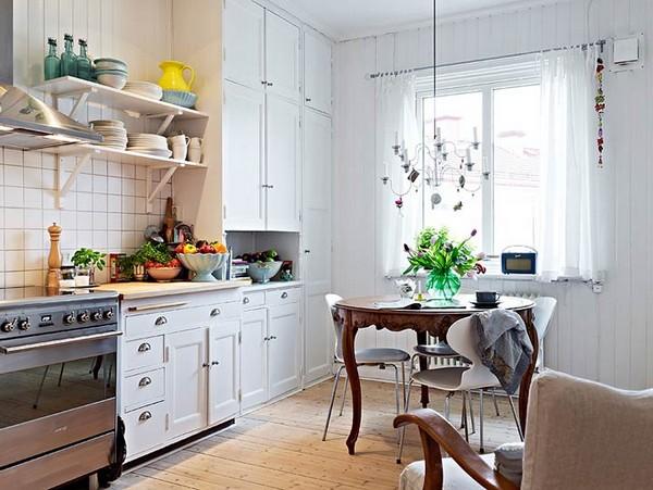 Мебель для кухни в скандинавском стиле фото