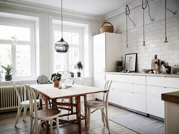 кухни в скандинавском стиле интерьере фото
