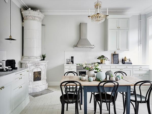 Интерьер кухни в скандинавском стиле фото