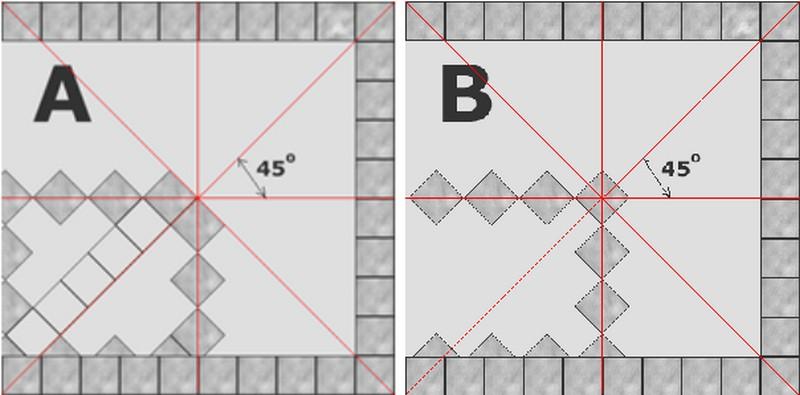 укладка плитки по диагонали фото