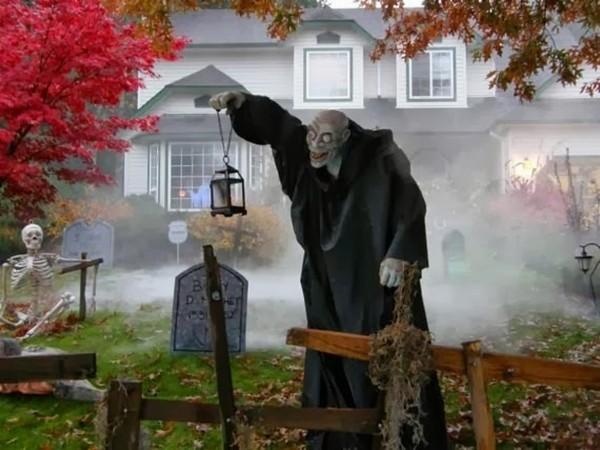 Декор на Hallowen для двора