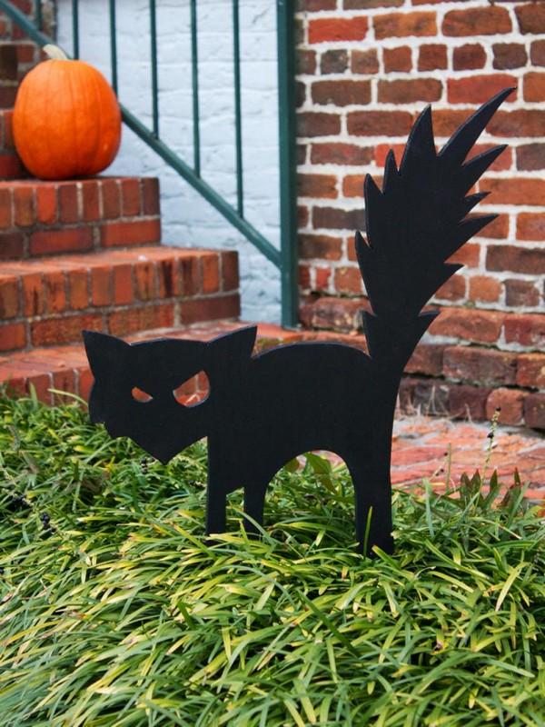 Фигурки котов для декора на Хэллоуин