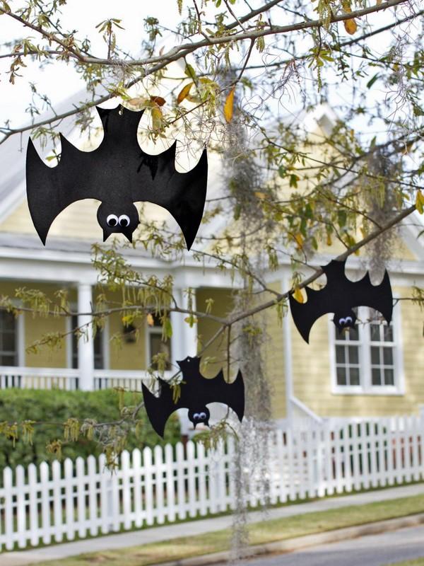 Летучие мыши для декора на Хэллоуин
