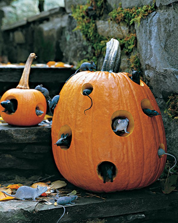 Тыквы на Хэллоуин фото