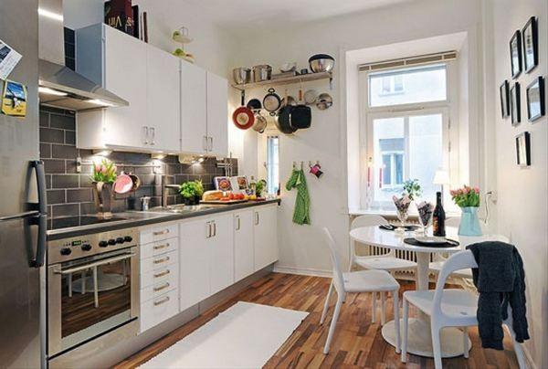 Визуально увеличиваем пространство кухни фото