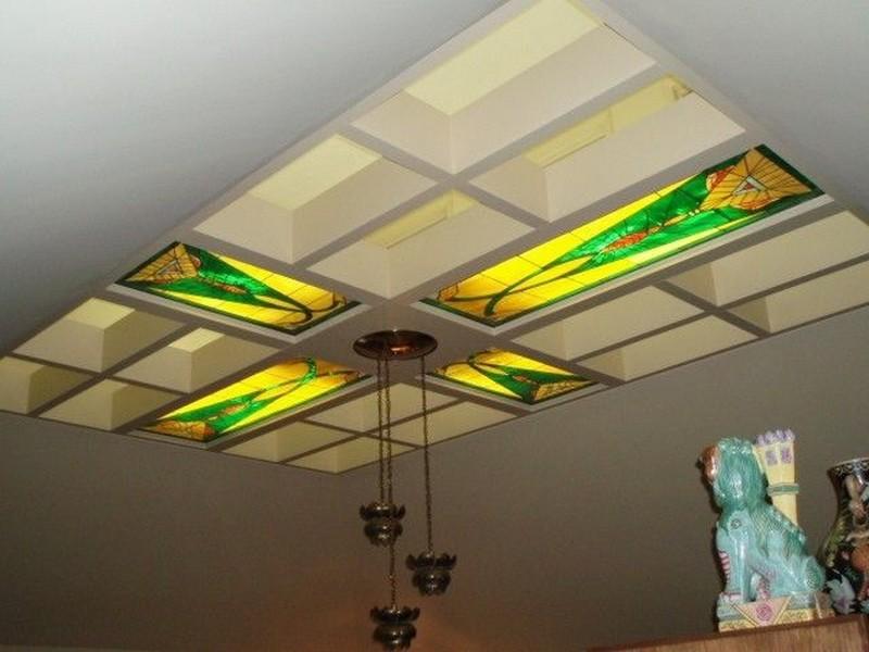подвесной витражный потолок фото