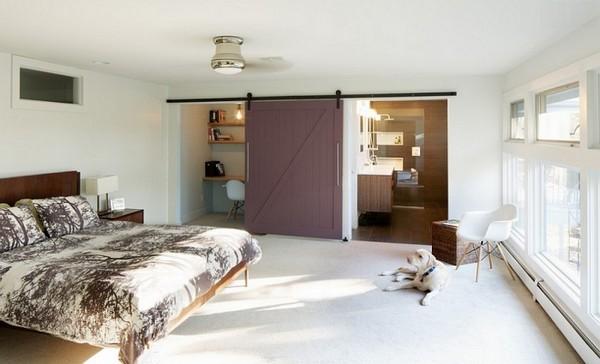 Передвижные перегородки для кабинета в спальне