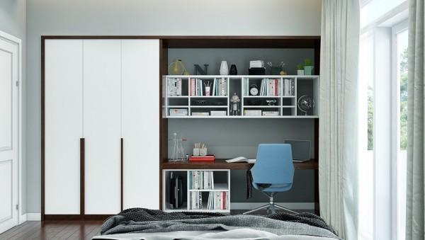 Рабочий кабинет в шкафу спальни фото