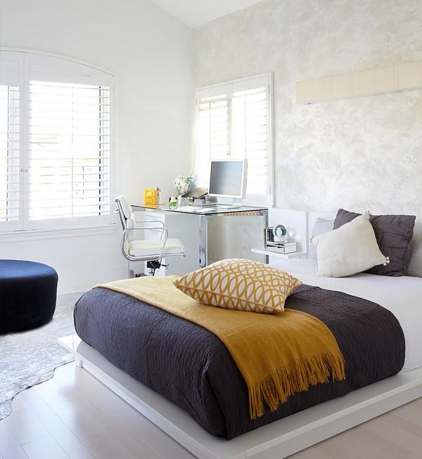 Дизайн спальни-кабинета фото