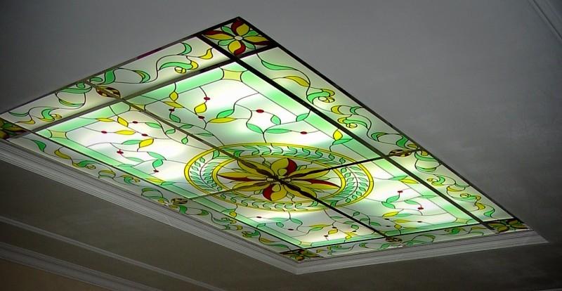 витражные потолки с подсветкой фото