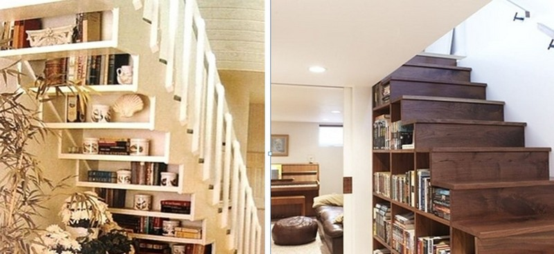 библиотека под лестницей фото