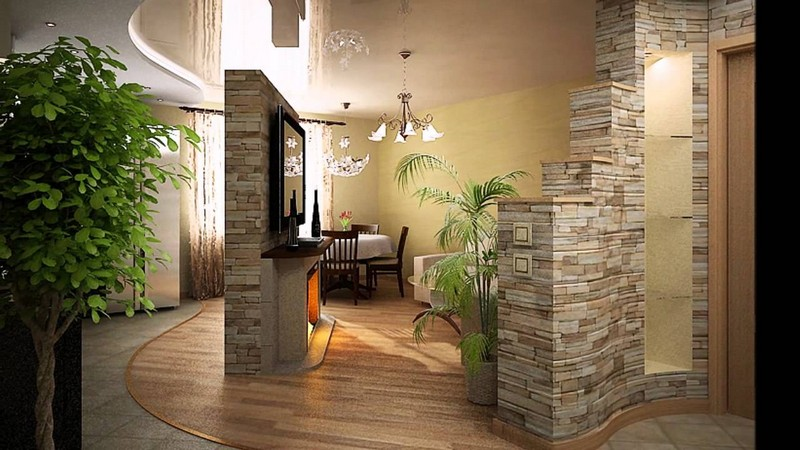 декоративная отделка стен под камень фото