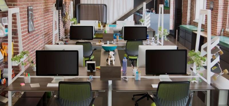 Интересный дизайн маленького офиса фото