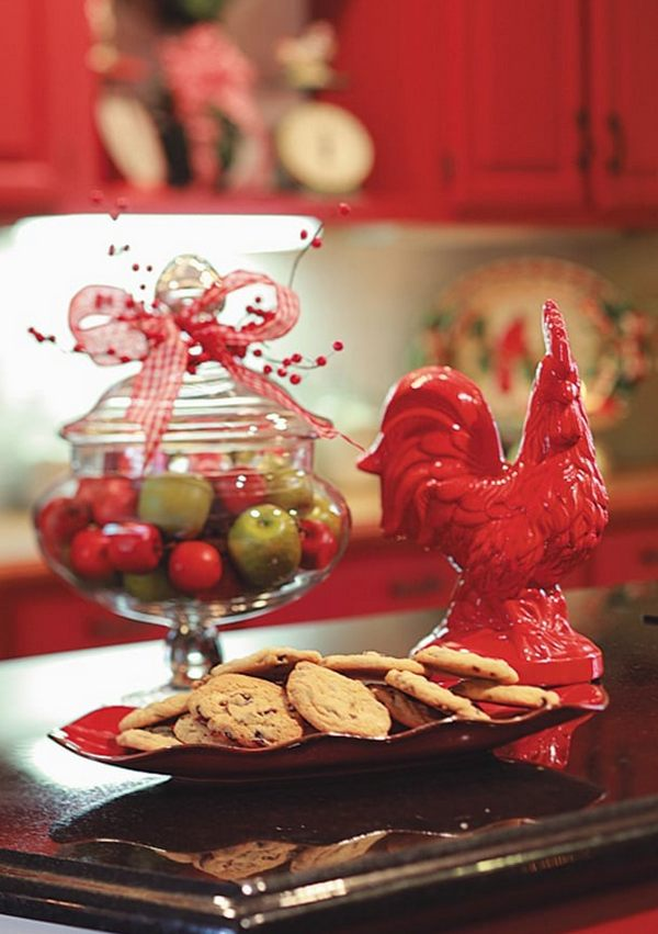 Новогодний декор на год Петуха фото