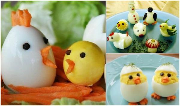 Курочки и цыплята из яиц на новогодний стол 2017