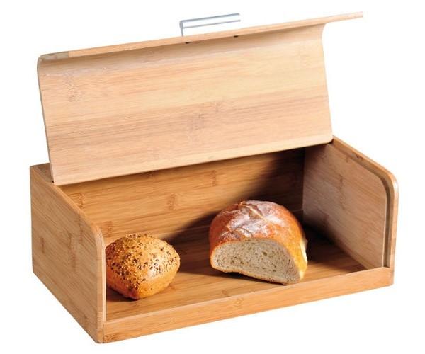 Деревянная хлебница с крышкой