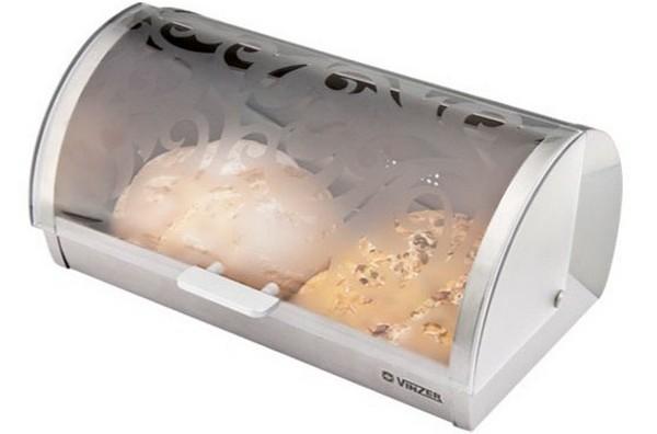 Хлебница со стеклянной крышкой фото