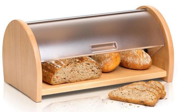 Хлебница деревянная с пластиковой крышкой