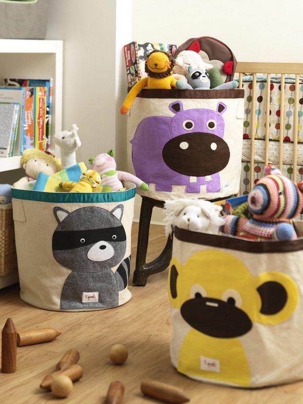 Красивые тканевые корзины для игрушек фото