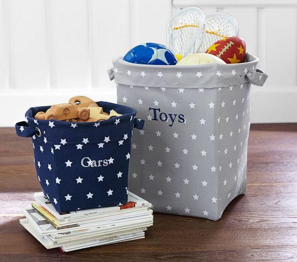 Корзины для хранения игрушек из ткани