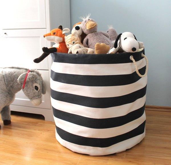 Тканевая корзина для игрушек