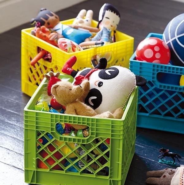 Пластиковые корзины-ящики для игрушек
