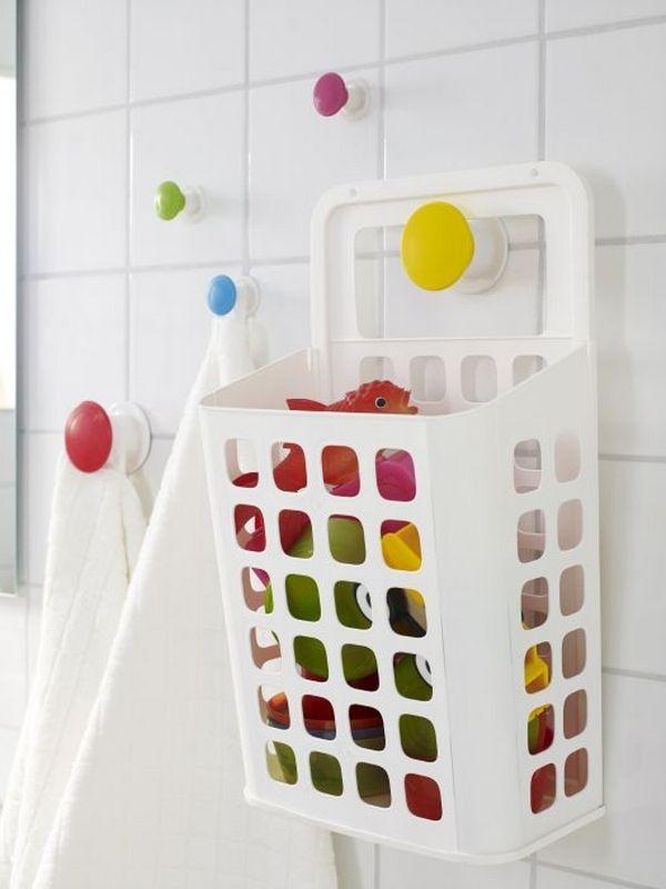 Корзина для игрушек в ванную из пластика