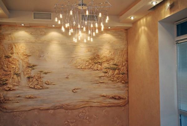Барельефы картины на стенах фото