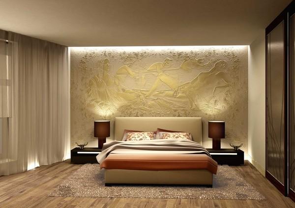 Барельеф для стены в спальне фото