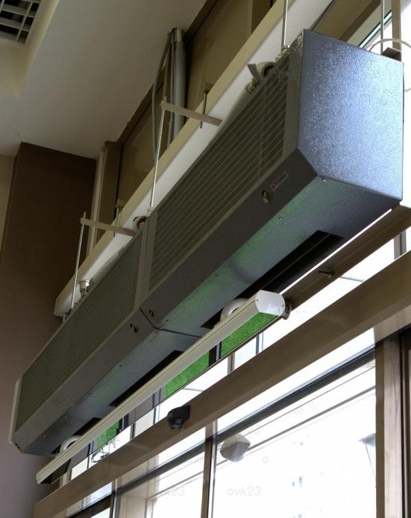 водяная тепловая завеса на входную дверь