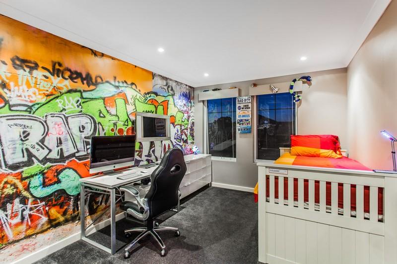 Граффити в интерьере комнаты подростка фото