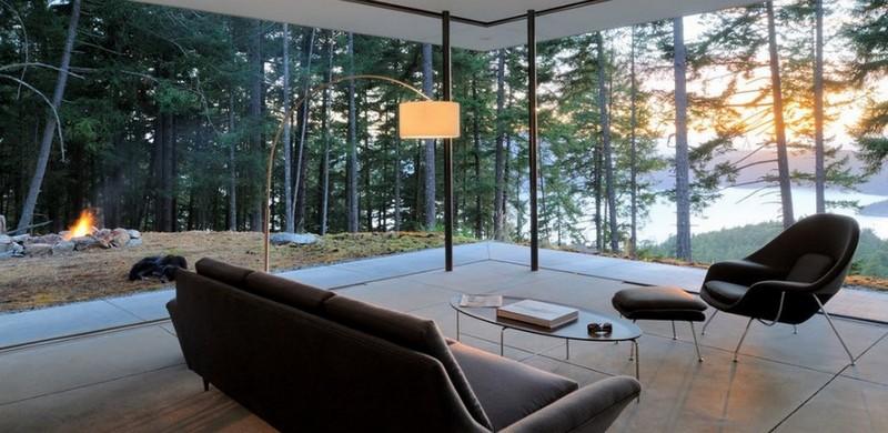 стеклянная стена в доме фото