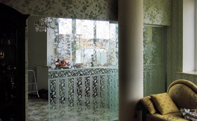 стеклянные стены фото