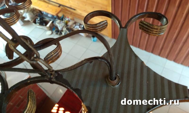Самостоятельное изготовление кованой люстры фото