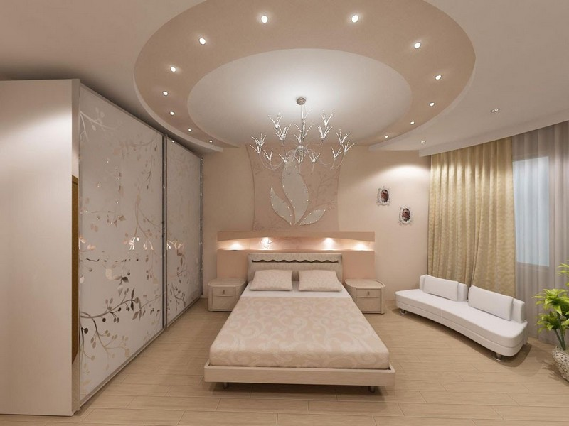 декор потолка гипсокартоном фото