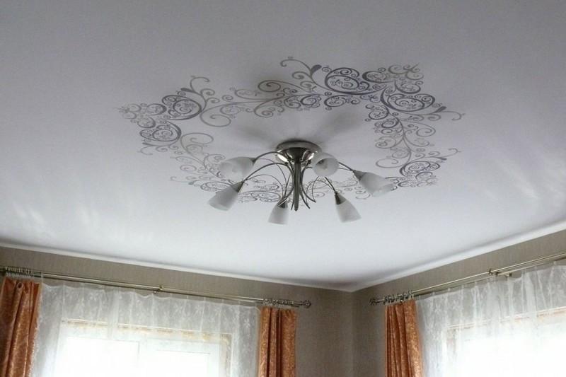 лучшие тканевые потолки фото