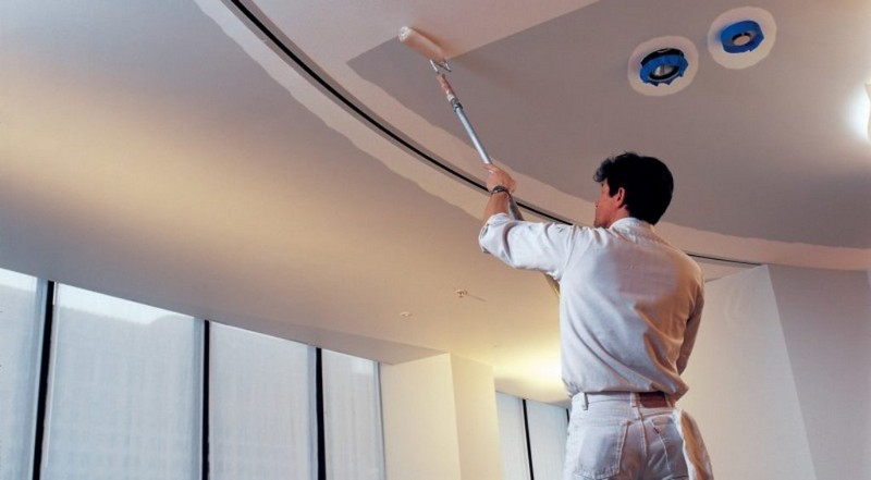 косметический ремонт потолка фото