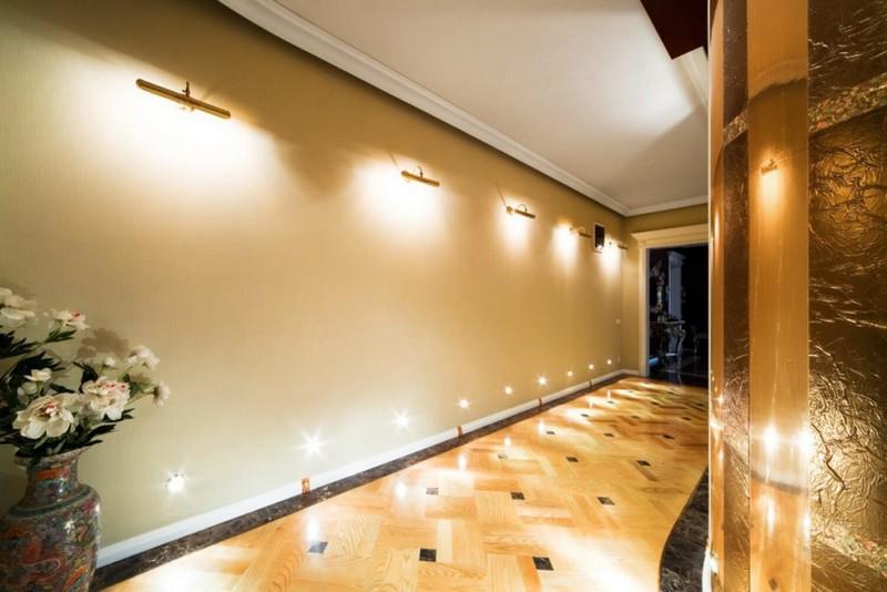 подсветка пола в квартире фото