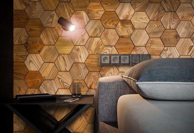 деревянная плитка мозаика фото