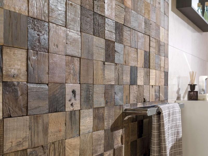 деревянная плитка в ванной фото
