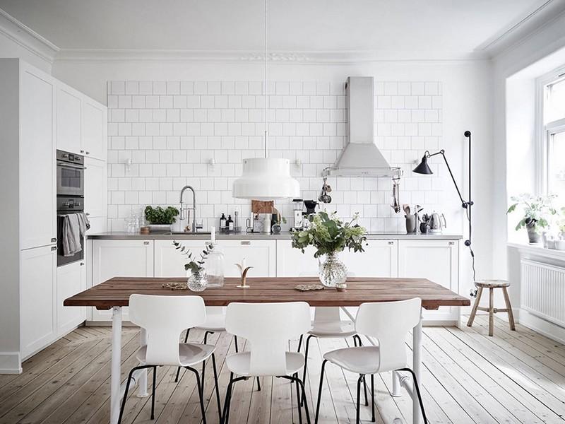 белая мебель на кухне фото