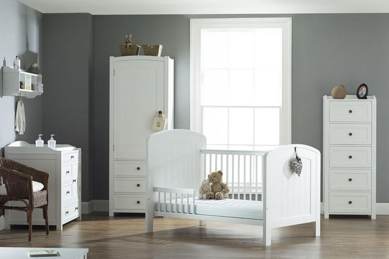белая мебель в интерьере детской фото