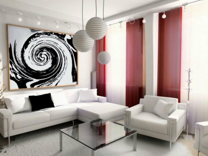 белая мебель в интерьере гостиной фото