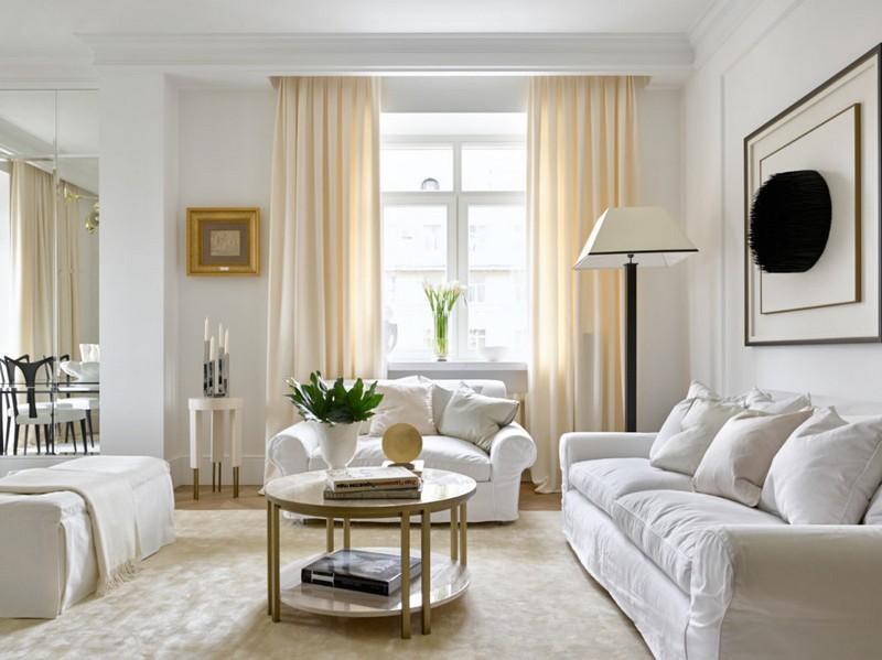 мебель белого цвета в интерьере фото