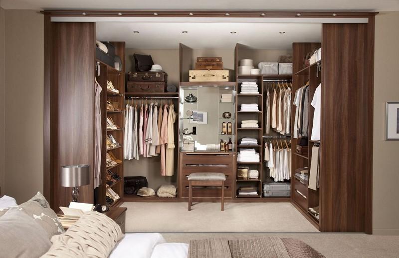 дизайн спальни с гардеробной комнатой фото