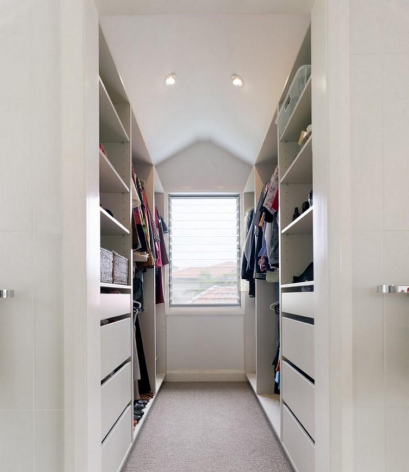 дизайн узкой гардеробной комнаты фото
