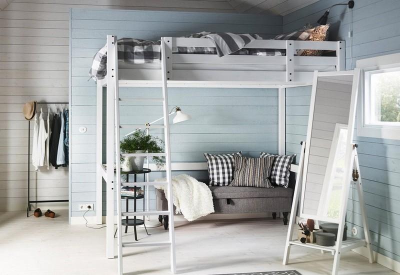 кровать чердак с диваном для взрослых фото