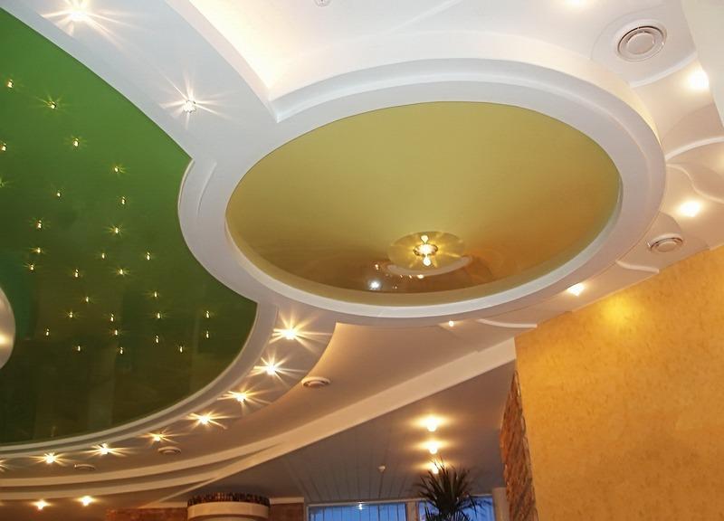 светильники для натяжного потолка фото