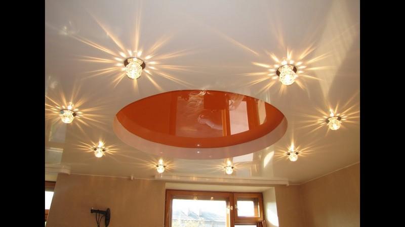 точечные потолочные светильники фото